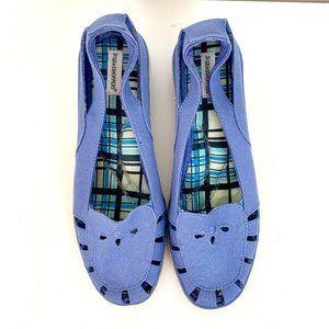 Grasshopper SZ 9M canvas blue Slide ons women shoe